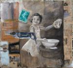 Gamine et Machine180 x 180 cm
